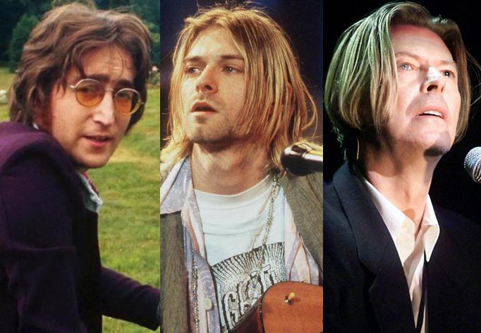 Kurt Cobain John Lennon David Bowie
